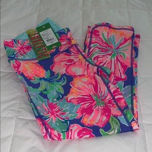 NWT Lilly Pulitzer Luxletic UPF50 Cropped Leggings